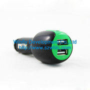 car charger with dual ports ,  China car charger manufacturer